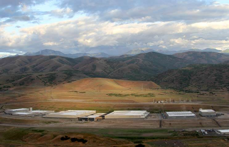 An aerial view of the NSA Data Center outside of Salt Lake CIty, Utah. The agency has invested more then $1 billion creating the 1 million square foot campus. (Photo: Electronic Frontier Foundation)